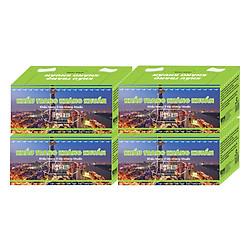 Combo 4 Hộp Khẩu Trang Kháng Khuẩn Hy Nam (Hộp 50 Tờ) - Xanh