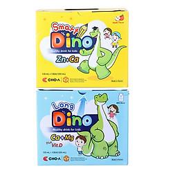 Combo Nước Uống Dinh Dưỡng Dành Cho Trẻ Em Smart Dino + Long Dino (120ml / Gói x 20 Gói)