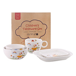 Bộ Bàn Ăn Sứ Cao Cấp 5 Món Dong Hwa Cho Trẻ KIDSET02