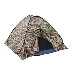 Lều Cắm Trại 4 Người 1 Lớp Màu Lính