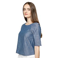 Áo Kiểu Nữ Denim Blouse MINTBasic MBB21417LB - Xanh Da Trời Nhạt