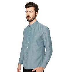 Sơ Mi Nam Dài Tay Cotton Shirt (BL) MINTBasic MBS10117BL - Xanh Da Trời