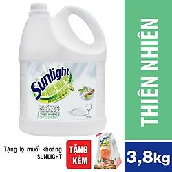Nước Rửa Chén Sunlight Thiên Nhiên Dạng Chai (3.8kg)