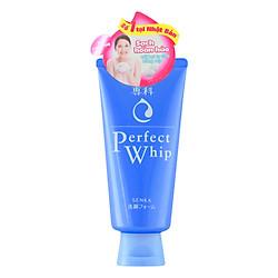 Sữa Rửa Mặt Tạo Bọt Chiết Xuất Tơ Tằm Trắng Senka Perfect Whip 120g - 60114