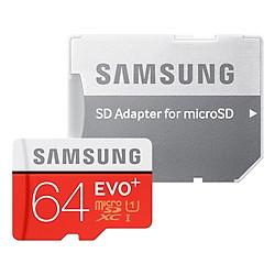 Thẻ Nhớ Micro SD Samsung Evo Plus 64GB Class 10 - 100MB/s  (Kèm Adapter)