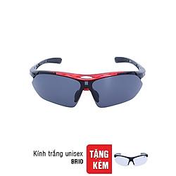 Kính Mát Sun Glass Brio Đỏ + Tặng Kính Trắng Goggle