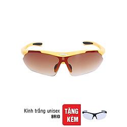 Kính Mát Sun Glass Brio Vàng + Tặng Kính Trắng Goggle