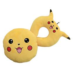Combo Gối Tựa Lưng Và Gối Chữ U Thivi - Pikachu Vàng