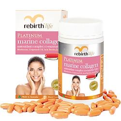 Thực Phẩm Chức Năng Viên Uống Chiết Xuất Từ Sinh Vật Biển Lanopearl Rebirth Life Platinum Marine Collagen (60 Viên) RL06