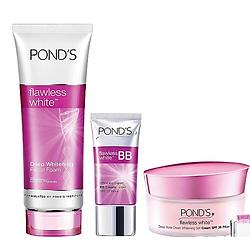 Combo Chăm Sóc Da 4 Mùa: Sữa Rửa Mặt Pond's Flawless White + Kem Dưỡng Da Rose Dewy 50g + BB Cream Pond's 25g