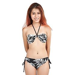 Bikini 2 Mảnh Họa Tiết Lá Peace's  ZATG14 – Đen Trắng