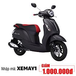 Xe Máy Yamaha Grande Limited Premium - Đỏ Đen + Tặng Nón Bảo Hiểm, Áo Mưa, Móc Khóa Xe