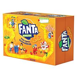 Thùng 24 Lon Nước Giải Khát Có Gas Fanta Orange Carton Tết (330ml / Lon)