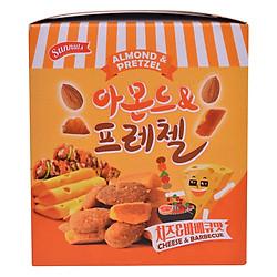 Hạnh Nhân Kèm Bánh Quy Cay Vị Phô Mai & Barbecue Sunnuts Almond & Pretzel Butter Cheese & BBQ (8 Gói x 30g)