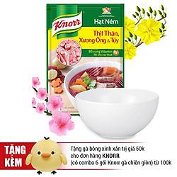 Combo 2 Hạt Nêm Knorr Từ Thịt Thăn, Xương Ống Và Tủy Bổ Sung Vitamin A (400g/Gói) - Tặng 1 Tô Sứ