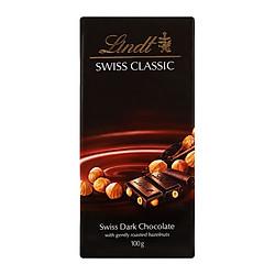 Socola Lindt Swiss Classic Đen Nhân Hạt Dẻ (100g)