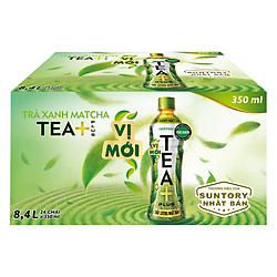 Thùng 24 Chai Trà Xanh Matcha Tea+ Plus (350ml / Chai)