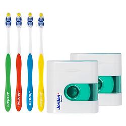 Bộ Travel Kit cho gia đình: 4 Bàn Chải Đánh Răng Total Clean + 2 Chỉ Nha Khoa Expand