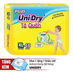 Tã Quần UniDry Gói Cực Đại XL48 (48 Miếng)