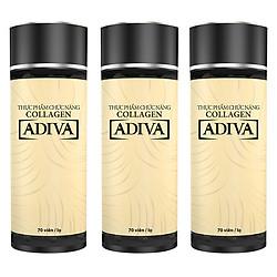 Combo 3 Hộp Thực Phẩm Chức Năng Collagen Adiva (70 Viên / Hộp)
