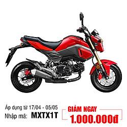 Xe Máy Honda MSX 125cc 2018 - Đỏ Ghi Đen - Tặng Nón Bảo Hiểm, Bảo Hiểm Xe Máy
