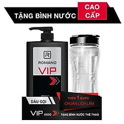Dầu Gội Cho Nam Romano VIP (650g) - Tặng Bình Nước Thể Thao 1L