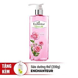 Sữa Tắm Enchanteur Naturelle Hương Hoa Hồng (510g) - Tặng Sữa Dưỡng Thể Deluxe Delightful (200g)
