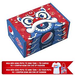 Thùng 12 Lon Nước Ngọt Có Gas Pepsi (330ml / Lon)