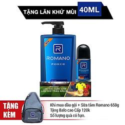 Dầu Gội Romano Force (650g) - Tặng Lăn Khử Mùi 40ml