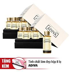 Bộ 2 Hộp Tinh Chất Làm Đẹp Collagen Adiva (28 Lọ x 30ml) - Tặng Tinh Chất Làm Đẹp Adiva White (Hộp 8 Lọ)