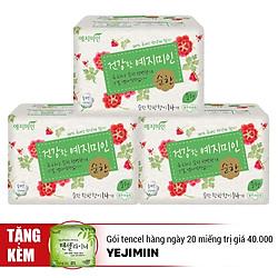 Combo 3 Gói Băng Vệ Sinh Yejimiin Mild Cotton Size L - Tặng 1 Gói Tencel Hàng Ngày 20 Miếng Trị Gái 40.000