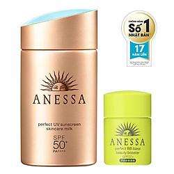 Bộ Đôi Chống Nắng Hoàn Hảo Anessa Gold Milk (60ml) + BB Anessa (7ml)