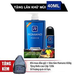 Sữa Tắm Romano Force (650g) - Tặng Lăn Khử Mùi 40ml