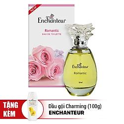 Nước Hoa Enchanteur Romantic (50ml) - Tặng Dầu Gội Charming (100g)