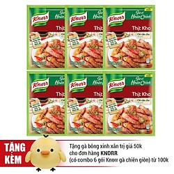 Combo 6 Gói Knorr Gia Vị Hoàn Chỉnh Thịt Kho (28g) - 21006076