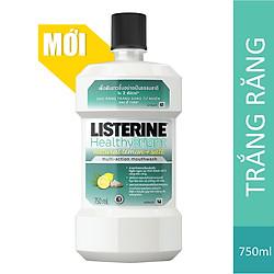 Nước Súc Miệng Làm Trắng Răng Listerine Healthy Bright (750ml)