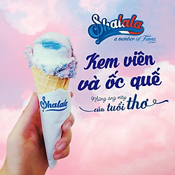 [Siêu Shock] Shalala Ice Cream - Voucher 01 Phần kem viên và ốc quế trị giá 35k, Áp Dụng 9 Chi Nhánh