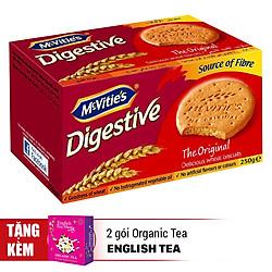 Bánh Quy Lúa Mì Nguyên Cám Truyền Thống Mcvitie's Digestive Orginal (250g) - Tặng 2 Gói English Tea Shop