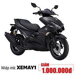 Xe Máy Yamaha NVX 155 Premium Phuộc Dầu - Đen Nhám + Tặng Nón Bảo Hiểm, Áo Mưa, Móc Khóa Xe