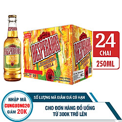 Thùng Bia Desperados Hương Vị Tequila 24 Chai (250ml / Chai)