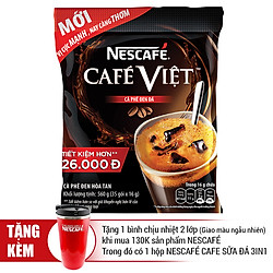Cà Phê Đen Hòa Tan Nescafé Café Việt (35 Gói x 16g)