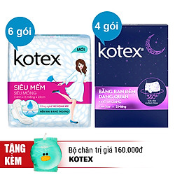 Combo Kotex Super Soft