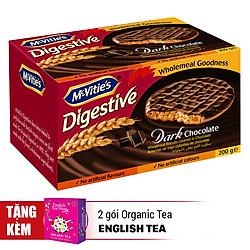 Bánh Mcvitie's Digestive Dark Chocolate (200g) - Tặng 2 Gói English Tea Shop
