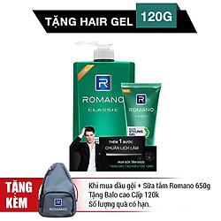 Sữa Tắm Romano Classic (650g) - Tặng Gel Tóc Classic