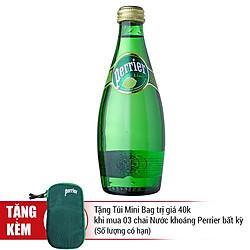 Nước Khoáng Có Gas Hương Chanh Xanh Perrier Chai Thủy Tinh (330ml)