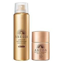 Bộ Đôi Chống Nắng Hoàn Hảo ANESSA Face & Body: Spray (60g) + Gold Milk (12ml)
