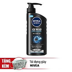 Dầu Gội Bùn Khoáng Sạch Gàu Mát Lạnh Nivea Men Ice Mud Cool And Clean Shapoo (530ml) - 82767