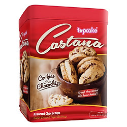 Bánh Chocochip TOPCAKE Castana (Hộp 600g) - Hoa Xuân
