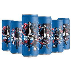 Lốc 6 Lon Nước Ngọt Có Gas Pepsi (330ml / Lon)