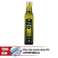 Dầu Extra Virgin Latino Bella (250ml) - Tặng Kèm Khăn Bếp Chuyên Dụng 3M